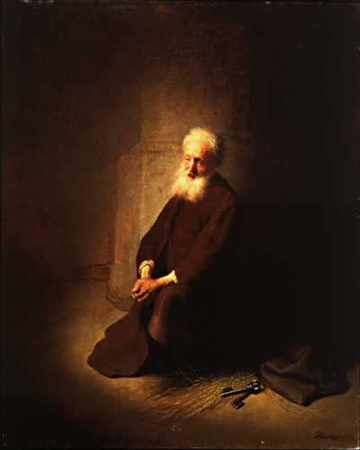 St Peter in Prison, Rembrandt