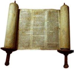 A Torah Scroll opened