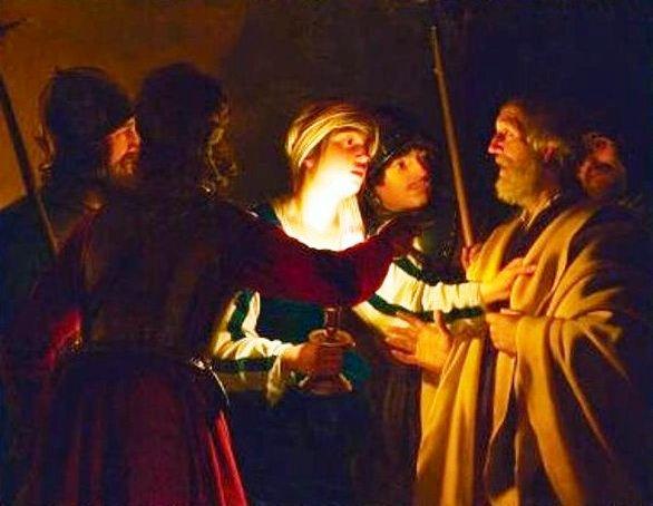 The Denial of St Peter, Gerrit van Honthorst