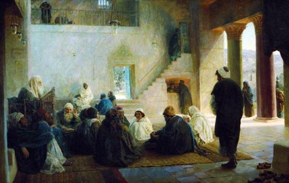 Jesus Among the Teachers, Vasiliy Polenov