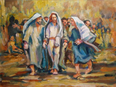 Jesus rejected in Nazareth, by Jeff Watkins