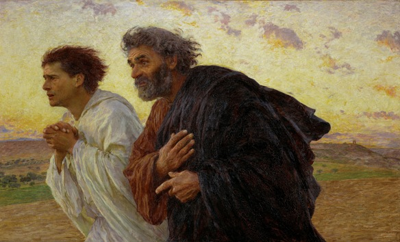 Peter and John running to the tomb of Christ, by Eugene Burnand