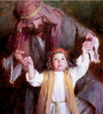 Joseph and the child Jesus, Morgan Weistling
