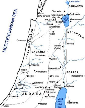 Map showing Judea at the time of Jesus