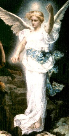 Painting of an angel by Leon Francois Comer