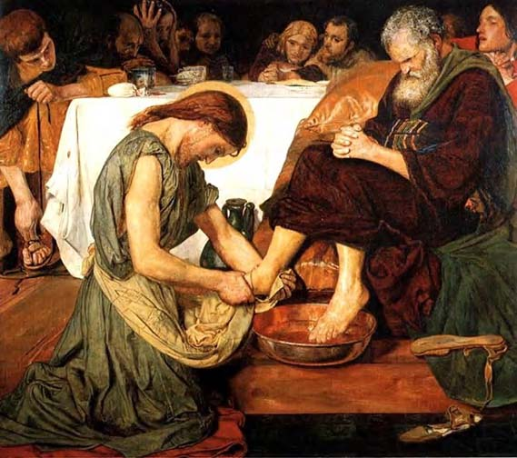 Christ Washing the Feet of St Peter, Ford Madox Brown