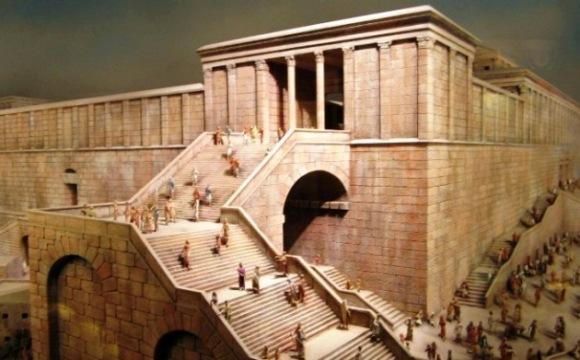 model Jerusalem stairway