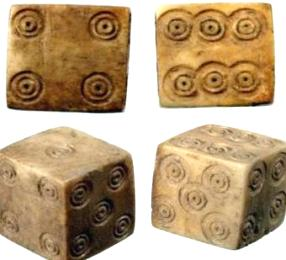 1st century dice excavated in the Middle East