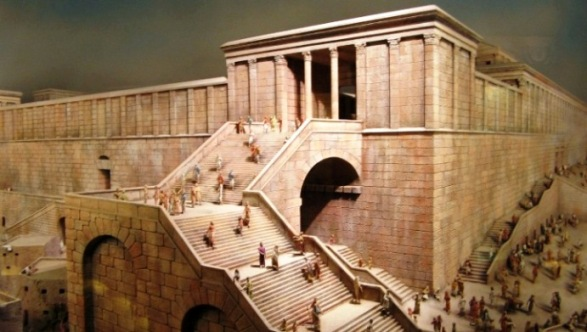 A reconstruction of one of the entrances to the Temple area;