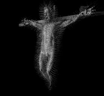 Crucifixion, David Mach, Edinburgh