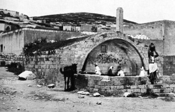 The Nazareth fountain, a link to Jesus, 1894 photograph