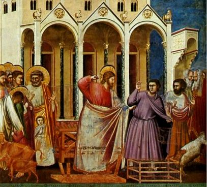 Giotto's painting of the Cleansing of the Temple