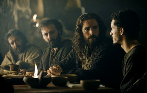 Jesus and his disciples at the Last Supper, from the film the Passion of the Christ