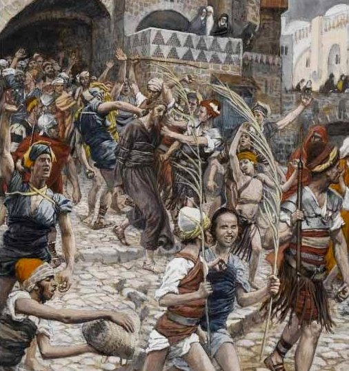 Jesus led from Caiaphas to Pilate, James Tissot, painting