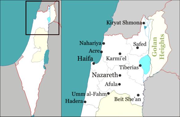 Nazareth-map
