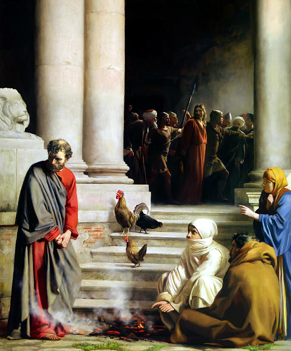 Peter denies Jesus, Carl Heinrich Bloch