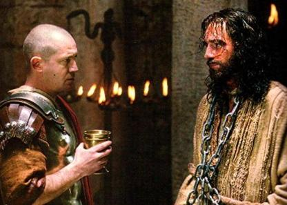 Pilate and Jesus, from movie The Passion of the Christ