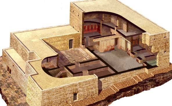 Reconstruction of a 1st century AD house in Jerusalem, in the wealthy quarter of the city