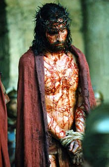 The condemned Jesus, from the film The Passion of the Christ