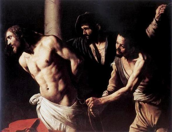 The flagellation of Christ at the column, Caravaggio