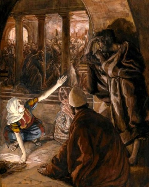 The third denial, and Jesus' look of reproach, James Tissot