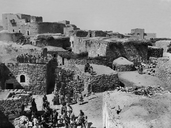 19th century photograph of a Palestinian village
