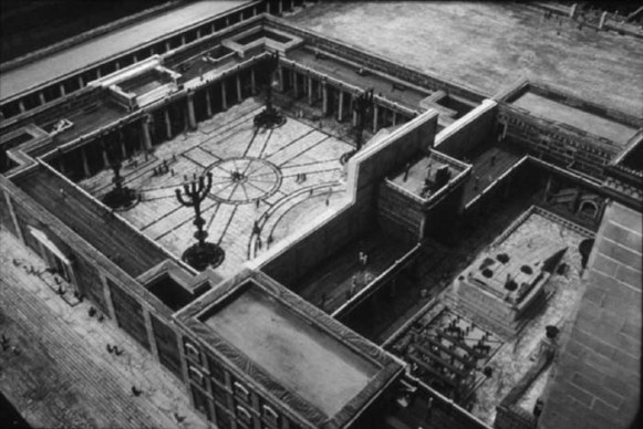 A reconstruction of the inner courts of the 1st century Temple in Jerusalem