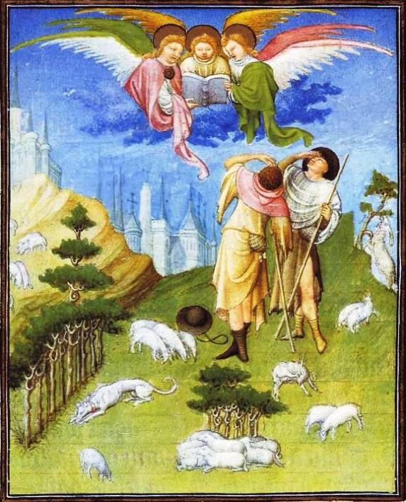 Angels announce Jesus' birth
