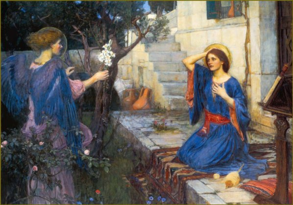 Annunciation, John William Waterhouse, 1914