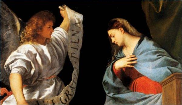 Annunciation, Titian, 1522