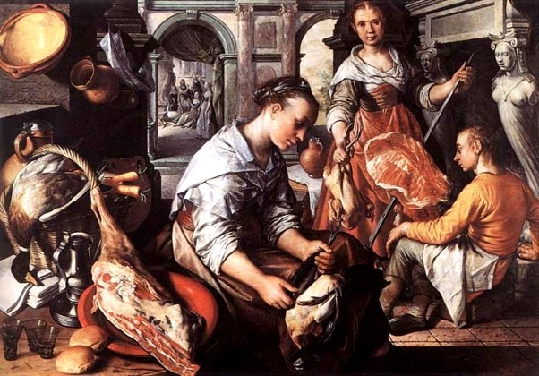 'Christ at Home with Martha and Mary', Joachim Beuckelaer, 1565