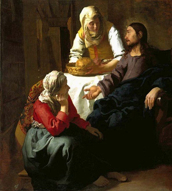'Christ in the House of Martha and Mary', Jan Vermeer van Delft, 1654
