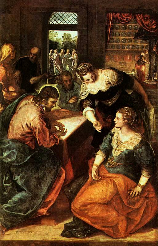 'Christ in the House of Mary and Martha', Tintoretto, 1580