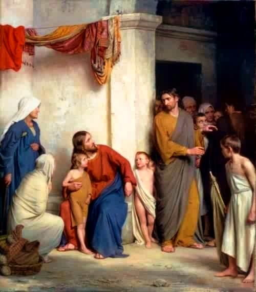 Christ with the Children, Carl Bloch