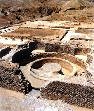 Excavated remains of the palace at Jericho