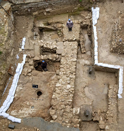 Excavations of an ancient house in Nazareth