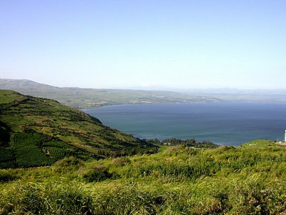 Fertile land around the Sea of Galilee