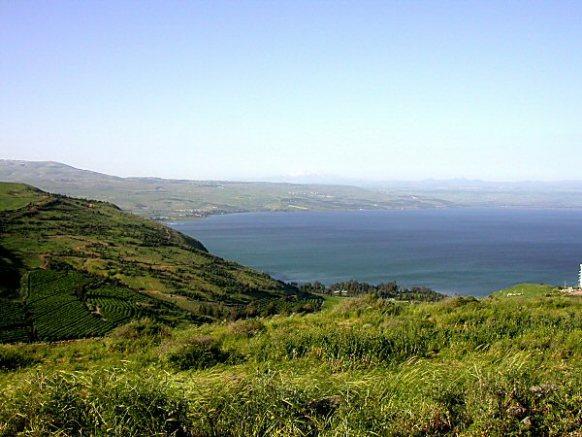 Fertile land around the Sea of Galilee