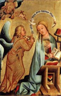 Grabow altarpiece, Annunciation