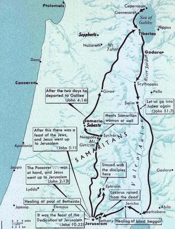 Jerusalem, the Samaritan woman, Bethany