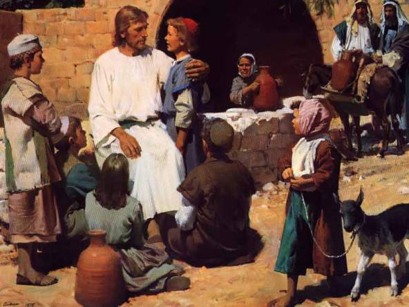 Jesus and the Children, painted by Harry Anderson