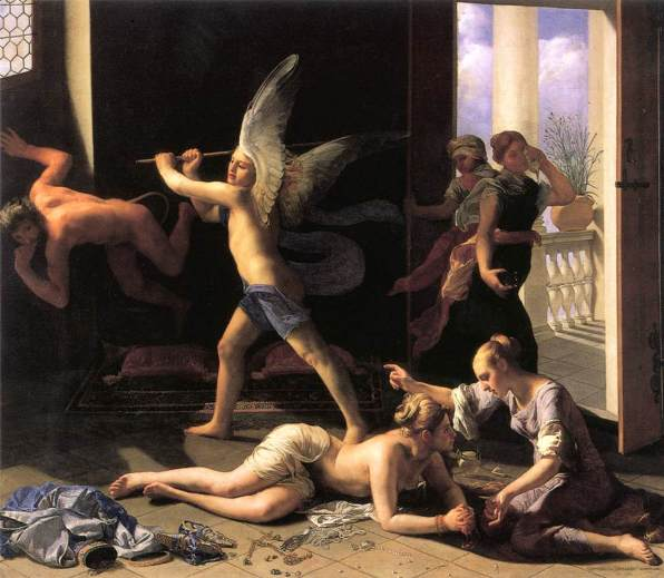 Martha rebuking Mary for her Vanity, Guido Cagnacci, 1660