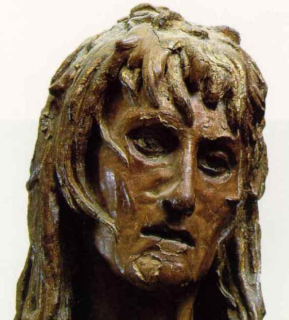 'Mary Magdalene', detail of head only, Donatello, 1455