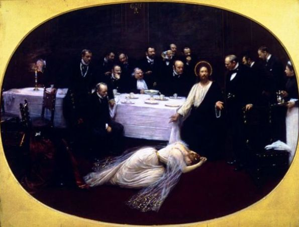 'Mary Magdalene in the house of Simon the Pharisee', Jean Beraud, 1891