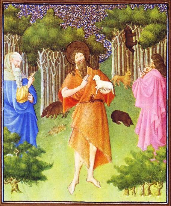 Painting of John in the wilderness