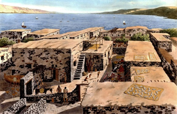 Reconstruction of an ancient fishing village on the shores of the Sea of Galilee, by Balage Balogh