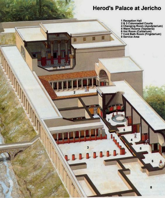 Reconstruction of the palace of King Herod at Jericho, which Jesus would have seen