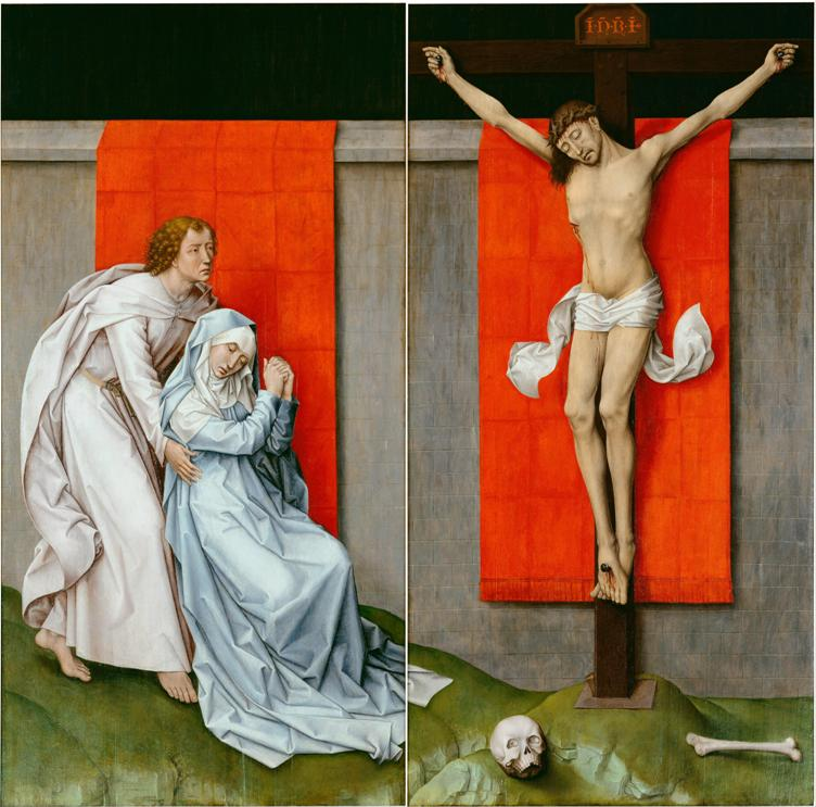 Rogier van der Weyden's painting of Mary at the crucifixion