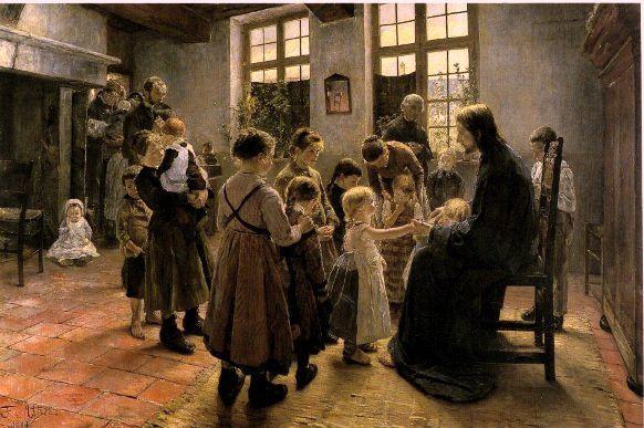 Suffer the Little Children, Fritz von Uhde, 1884