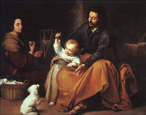 The Holy Family with a Little Bird, Murillo, circa 1650